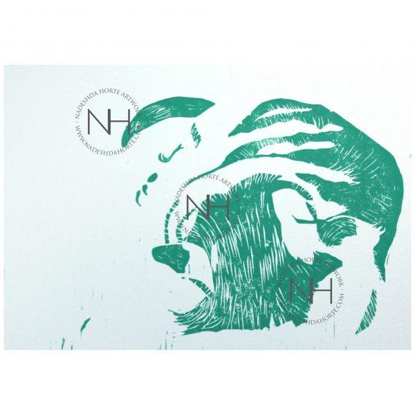 Green_Cat_Holzschnitt_Nadeshda_Horte