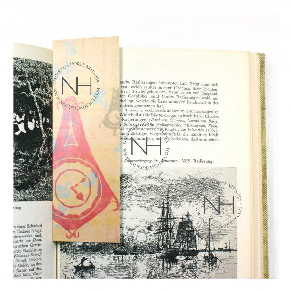 Lesezeichen, Die Uhr des Lebens im Buch, Nadeshda Horte